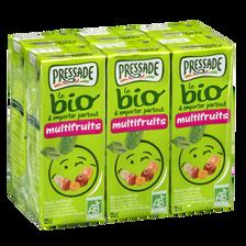 Nectar multifruits bio PRESSADE, briquette 6x20cl