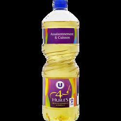 Mélange 4 huiles U, bouteille de 1litre