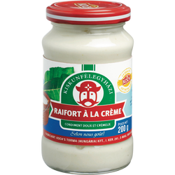 Condiment doux et crémeux Raifort à la crème TORMA, 190g
