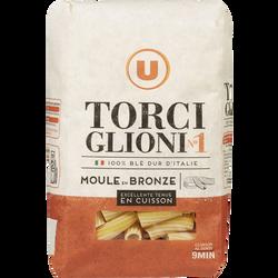Pâtes italiennes torciglioni n°1 U, 500g