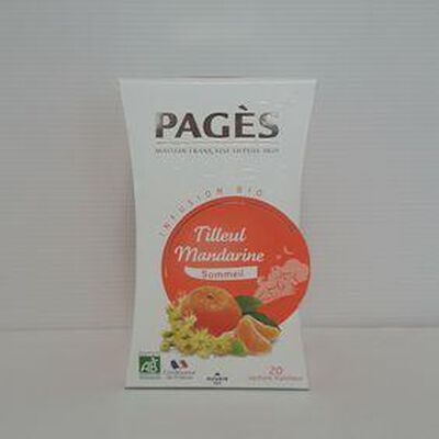 Infusion tilleul mandarine bio PAGÈS boite 30g