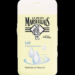 Gel douche crème extra doux au lait LE PETIT MARSEILLAIS, flacon de 250ml