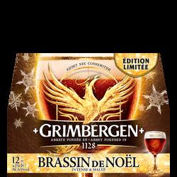 """Bière ambrée """"Brassin de Noël"""" GRIMBERGEN, 6,5°,12 bouteilles de 25cl"""