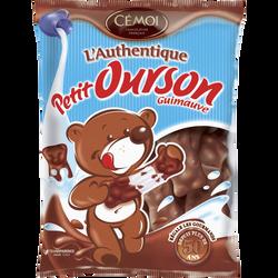 Oursons en guimauve enrobés de chocolat CEMOI, sachet de 180g