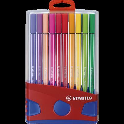 Feutres STABILO COLOR PARADE, haute qualité pour les beaux arts, encreà base d'eau, 20 unités, coloris ass.