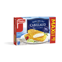 Filet de cabillaud panés qualité 100% FINDUS, 680G