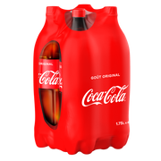 Coca Cola Coca-cola, 4 Bouteilles En Plastique De 1,75