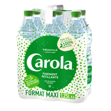 Carola Eau De Source Pétillante Carola Verte, 6x1.25l