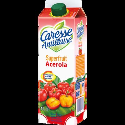 Jus orange et acérola à base de jus concentré & purée de fruits sans sucres ajoutés CARESSE ANTILLAISE, brique de 1l