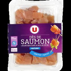 Dés de saumon fumé nature U, 100g