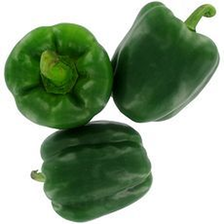 Poivron vert, calibre 80/100, catégorie 1, Espagne
