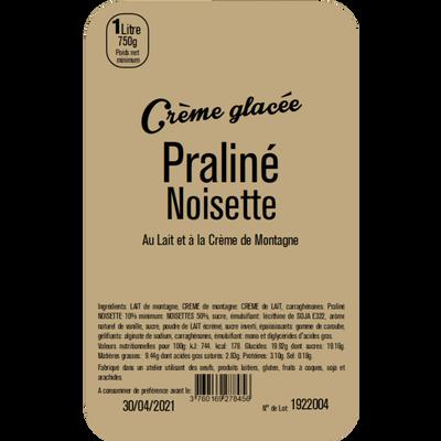 Crème glacée praliné noisette LA TURBINE A SAVEURS, 1 litre