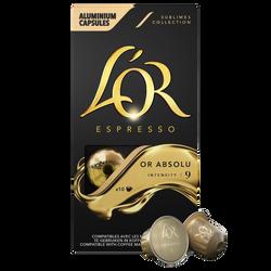 Café Capsules L'OR Espresso Or  Absolu x10