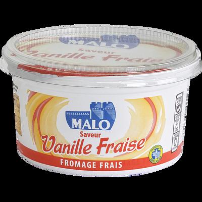 Fromage frais vanille/fraise MALO, 7% de MG, pot de 500g