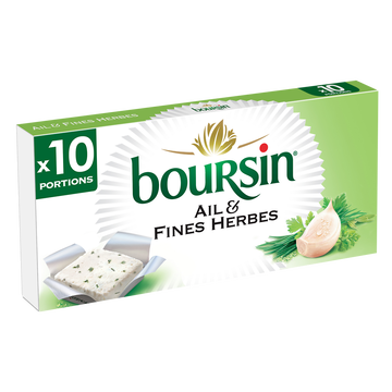 Boursin Fromage À Tartiner Boursin Ail & Fines Herbes 10 Portions, 160g