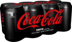 COCA-COLA ZERO BT 8X33CL+1 OFF