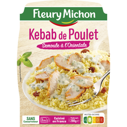 Kebab de poulet et semoule FLEURY MICHON, 280g