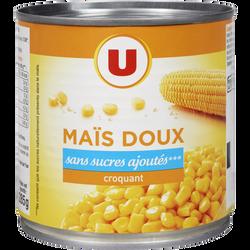 Maïs doux en grains sans sucre ajouté U, boîte de 1/2, 285g