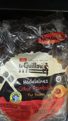 Madeleines pur beurre fourrées à la framboise 480g Le Guillou