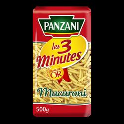 Pâtes macaroni cuisson rapide PANZANI, 500g