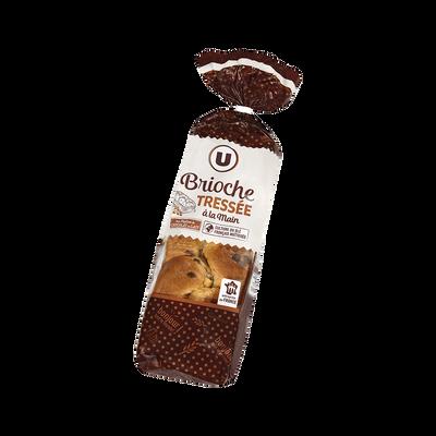 Brioche tressée aux pépites de chocolat au lait U, 600g