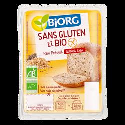 Pain précuit avec farine de quinoa et graines de chia bio BJORG, 250g