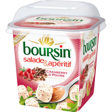 Salade apéritif Edition Limitée, 39% de MG, BOURSIN, 120g