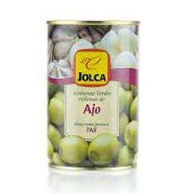 Olives vertes farcies à l'ai , JOLCA, conserve de 130G