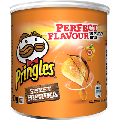 PRINGLES sweet paprika, mini paquet de 40g