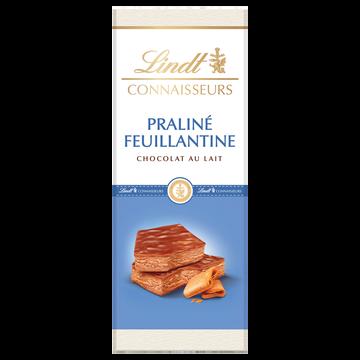 Lindt Chocolat Au Lait Praliné Feuillantine Lindt, Tablette De 120g