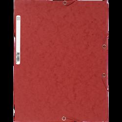 Chemise à élastique 3 rabats EXACOMPTA, 24x32 cm, carton, rouge
