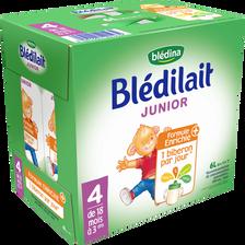 BLEDILAIT, croissance junior de 18 mois à 3 ans, Blédina, 6x1litre