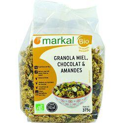 Granola miel, chocolat & amandes BIO, MARKAL, 375g