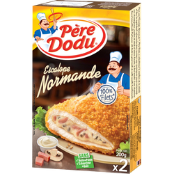 Escalope Normande 100% filet, PERE DODU, 2 pièces, 200g