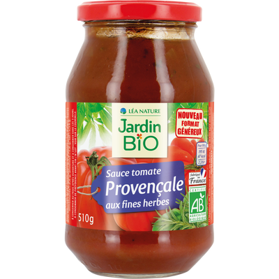 Sauce tomate provençale JARDIN BIO, bocal en verre de 510g