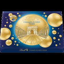 Lindt Assortiment De Bouchées De Chocolats Extra Fins Au Lait Noirs Et Blancs Fourrées Champs-elysées Féerie , Boîte De 402g