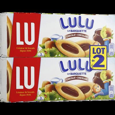 Barquette au chocolat, noisette et lait LU, 2x120g