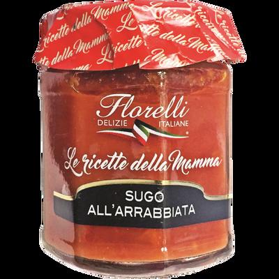 Sauce tomate pimentée FLORELLI,  200g
