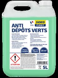 Anti-dépôts vert universel SEKO 5L,détruit mousses vertes, moisissureset bactéries, entretien annuel, traite jusqu'à 25m²