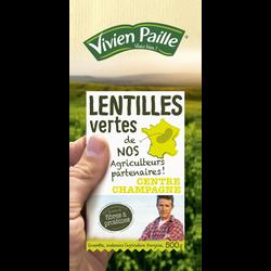 Lentilles vertes de nos agriculteurs partenaires VIVIEN PAILLE, 500g
