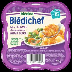 BLEDICHEF ptit lég.& mousseline patat.douce 15m.BLEDINA 250g