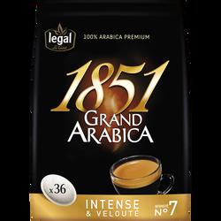 Café en dosettes Grand Arabica 1851 LEGAL, x36 soit 250g