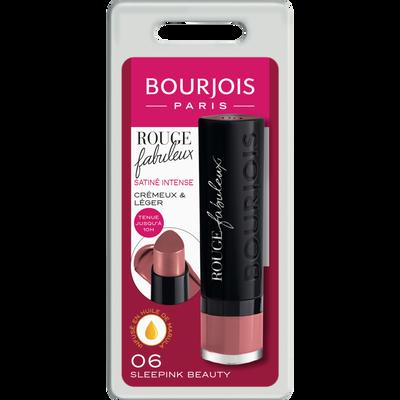 Rouge à lèvres fabuleux 006 sleepink beauty BOURJOIS, blister, 2,4gr