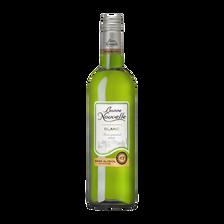 Vin blanc sans alcool BONNE NOUVELLE, 0°, 75cl
