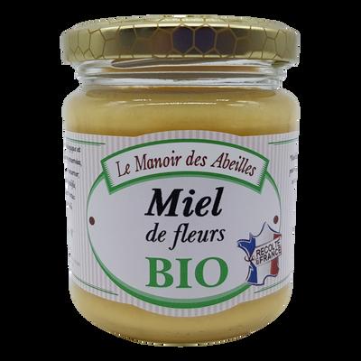 Miel de fleurs de France bio LE MANOIR DES ABEILLES, 250g