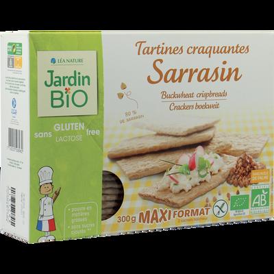 Tartines craquantes sarrasin sans gluten JARDIN BIO, étui de 300g