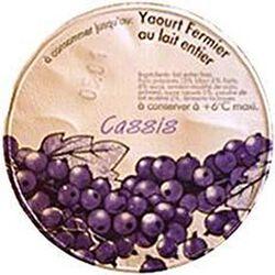 Yaourt fermier au lait entier au cassis LA FERME DE CORLY, 180g