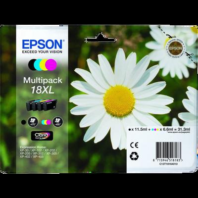 Pack 4 cartouches d'encre EPSON T1816 XL Pâquerette sous blister