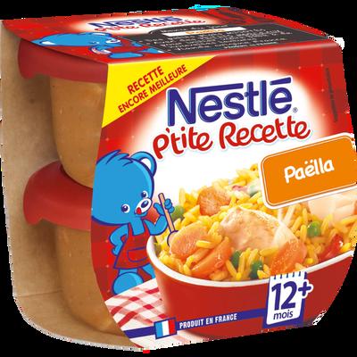 P'tite Recette paella NESTLÉ, 2 bols de 200g