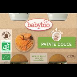 Pot patate douce BABYBIO, dès 4 mois, 2x130g soit 260g